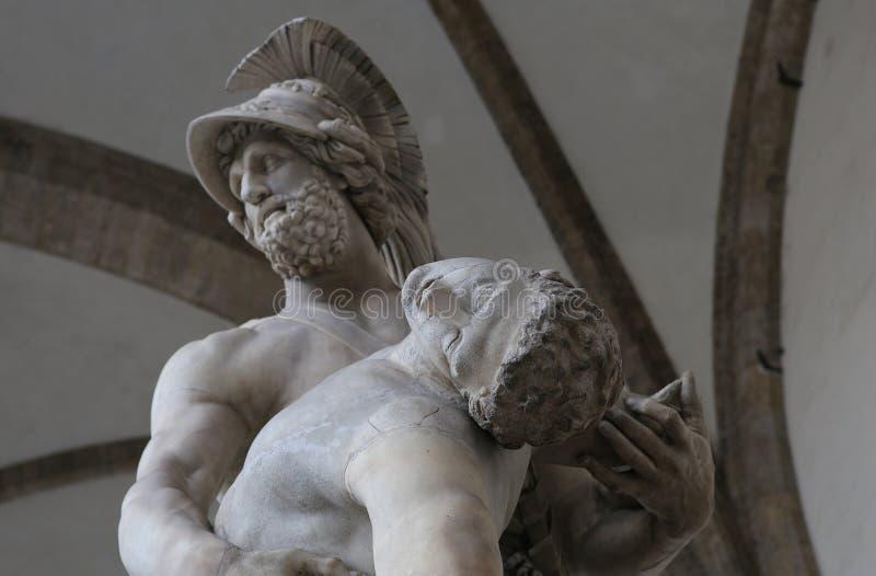 Statyer i piazzadellasignoriaen, Florence, Italien arkivfoto