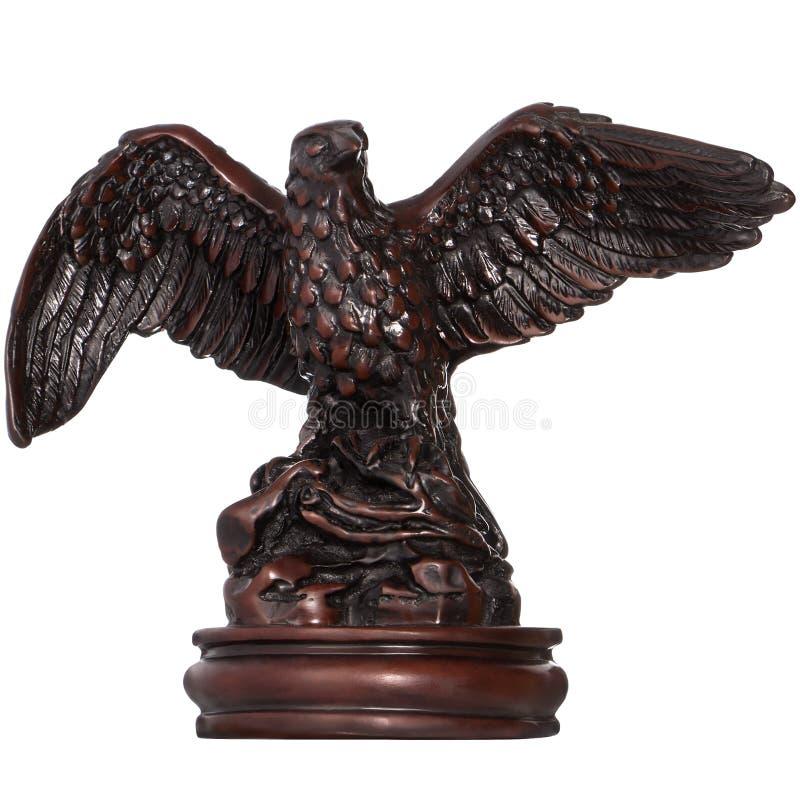Statyett av en Eagle (höken) royaltyfria foton