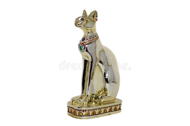 Statyett för egyptisk katt fotografering för bildbyråer
