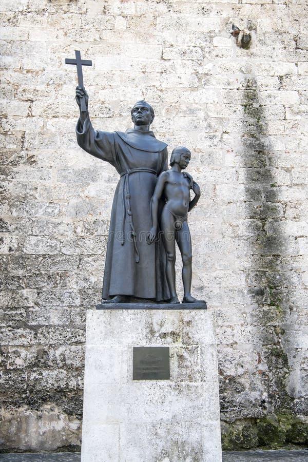 Download Statyfrans Junipero Serra Med Den Indiska Pojken Fotografering för Bildbyråer - Bild av staty, monument: 106827511