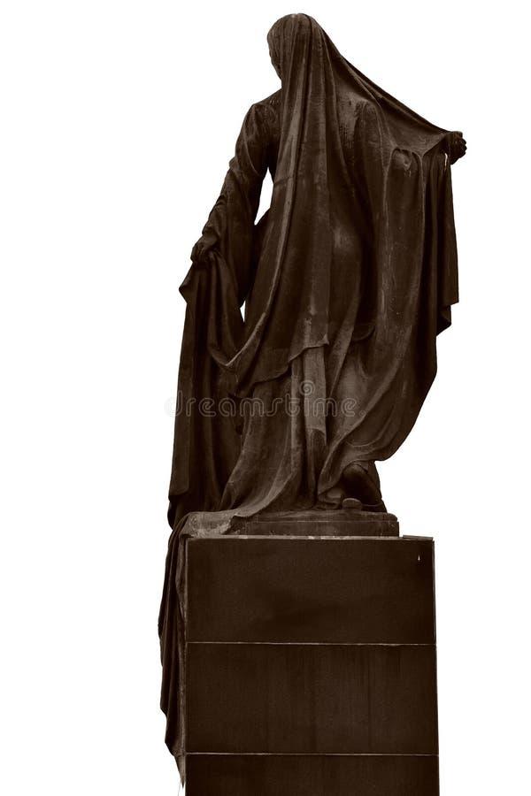 Statyn av den frigivna kvinnan, i Baku, huvudstad av Azerbajdzjan, beskådar bakifrån arkivbild