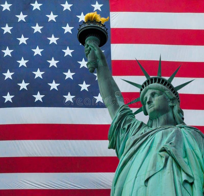 Statyn av frihet över Amerikas förenta stater arkivfoto