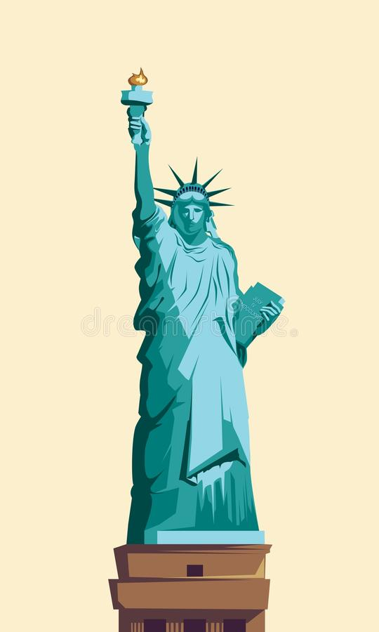 Statyn av frihet royaltyfri illustrationer