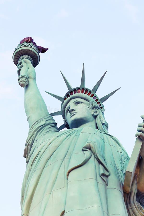 Statyn av frihet, Amerika, amerikanskt symbol, Förenta staterna, New York, Las Vegas, Guam, Paris fotografering för bildbyråer