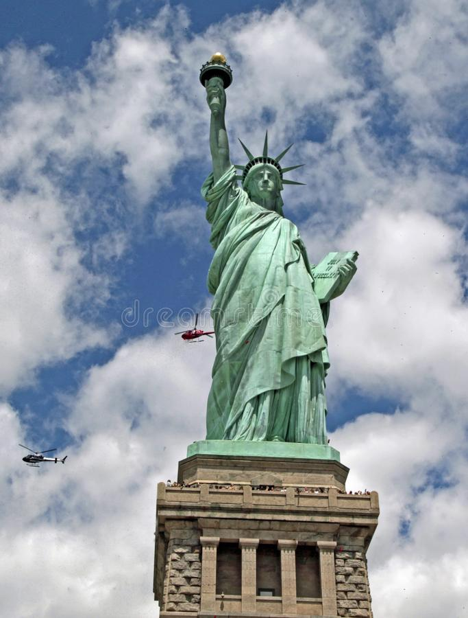 Statyn av frihet, NYC-NJ fotografering för bildbyråer
