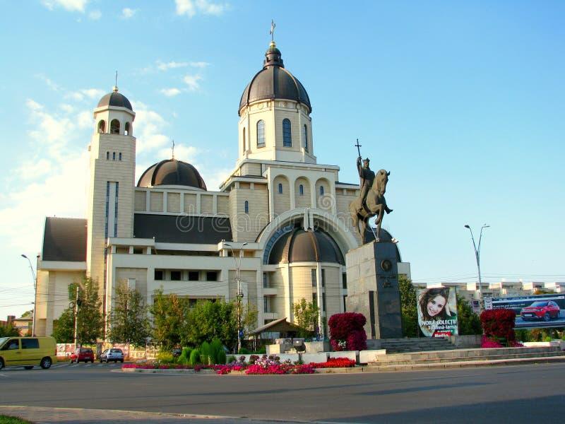 Statyn av Stefan Cel Mare, Bacau arkivfoton