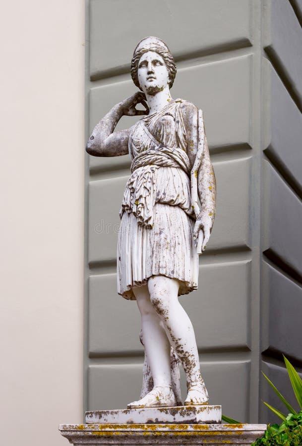 Statyn i museet arkivbild