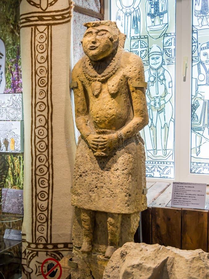 Statyn Polotsk på 11-1300-talet, en föreställning om det historiska och arkeologiska museet i Azv royaltyfri fotografi