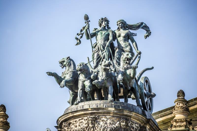 Statyopera Dresden fotografering för bildbyråer
