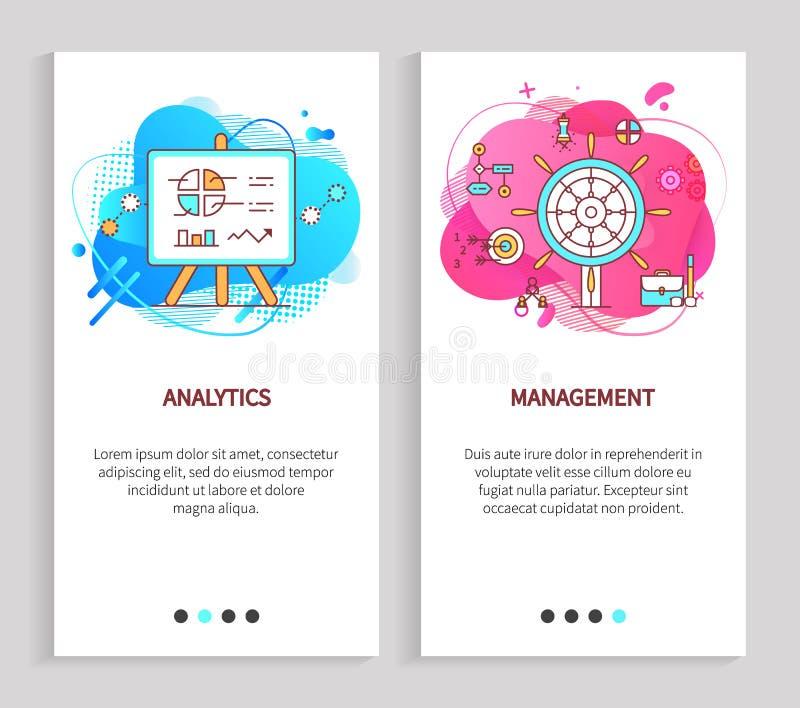 Statystyczny raport, zarządzanie współpracy wektor ilustracja wektor
