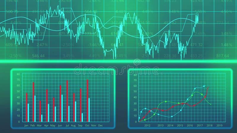 Statystyki dane sporządzają mapę przedstawienie produkci coroczną wydajność, rozwoju gospodarczego plan ilustracji