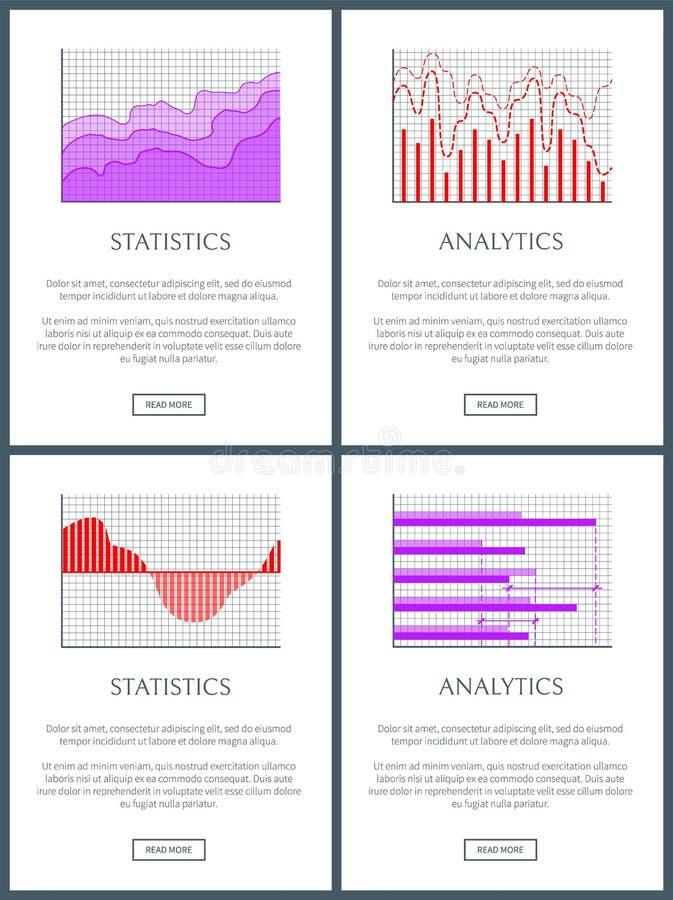 Statystyki i analityka wykresy linie i bary ilustracji