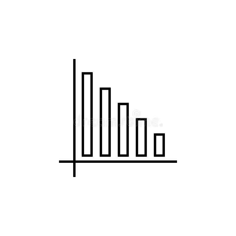 Statystyki ikona Element online i sieć dla mobilnego pojęcia i sieci apps ikony Cienka kreskowa ikona dla strona internetowa rozw ilustracja wektor