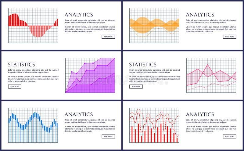 Statystyki Infographics i analityka, wektor karta ilustracji