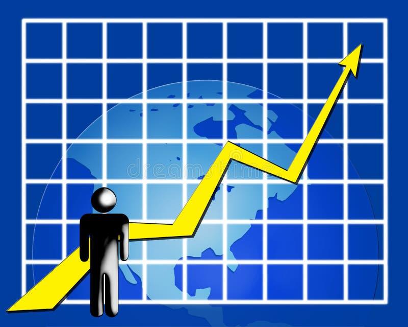 statystyki sieci royalty ilustracja