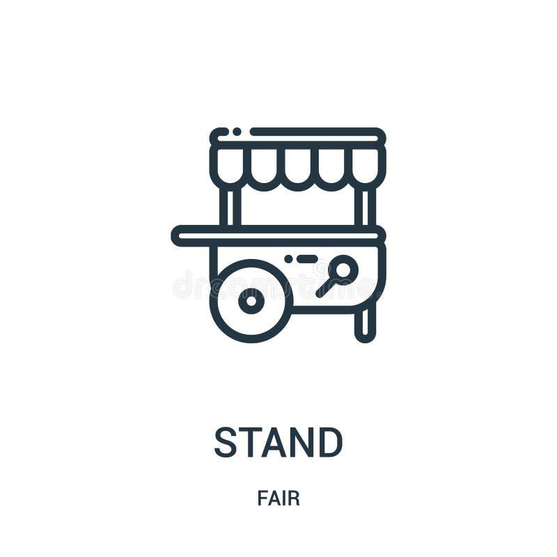statywowy ikona wektor od uczciwej kolekcji Cienka linia stojaka konturu ikony wektoru ilustracja Liniowy symbol dla używa na sie royalty ilustracja