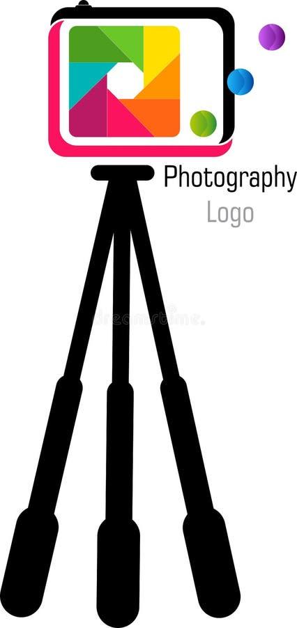 Statywowy kamera logo royalty ilustracja