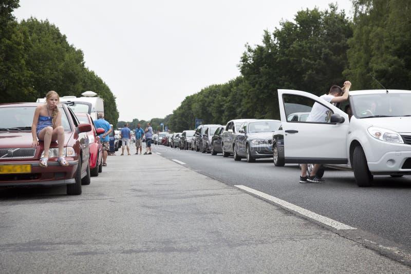 Stau auf Autobahn in Deutschland stockbilder