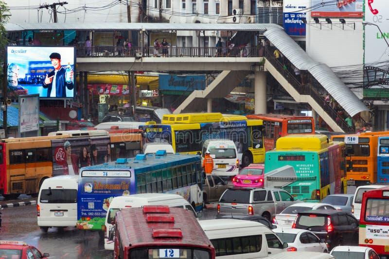 Stau in Bangkok lizenzfreie stockbilder