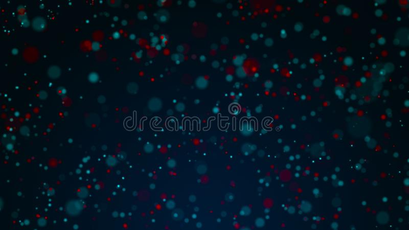 Staubteilchen Abstrakter Hintergrund von Punkten Kosmische Illustration Wiedergabe 3d lizenzfreie abbildung