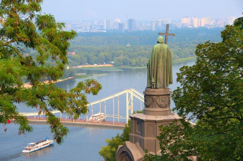 Staue St Владимира Киев, Украин стоковое фото rf