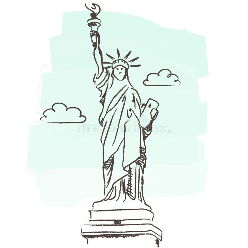 Staue van vrijheid royalty-vrije illustratie