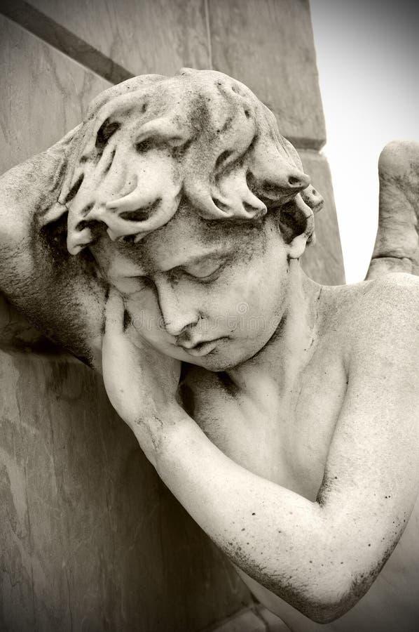 Staute do anjo imagem de stock