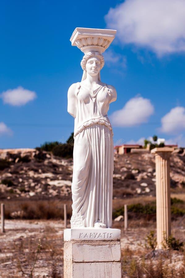 Staute of Caryatid. Ancient greek statue of Karyatis royalty free stock image