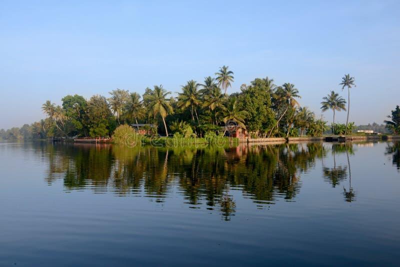 Stauwasser, Kerala, Indien stockbild