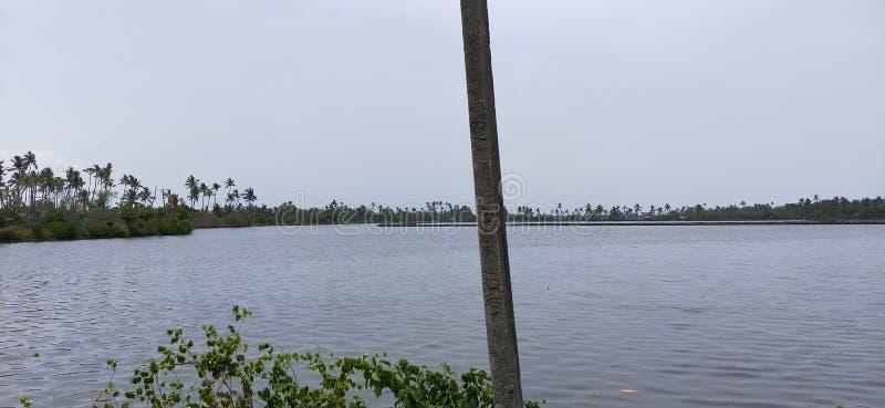 Stauwasser in Kerala lizenzfreie stockfotos