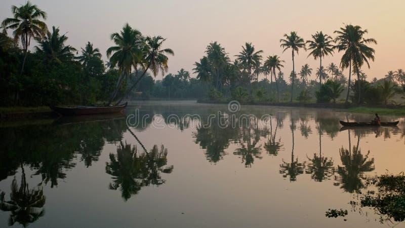 Stauwasser von Kerala stockfotografie