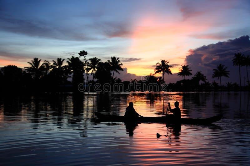 Stauwasser von Kerala stockbild