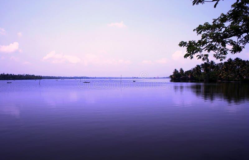 Stauwasser von Kerala, Indien stockbild