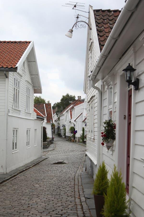 Stavanger-alte Stadt lizenzfreies stockbild