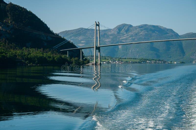 Stavanger miasta most obraz royalty free