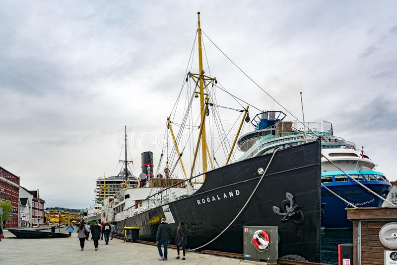The ship Rogaland in the city of Stavanger in Norway royalty free stock photo