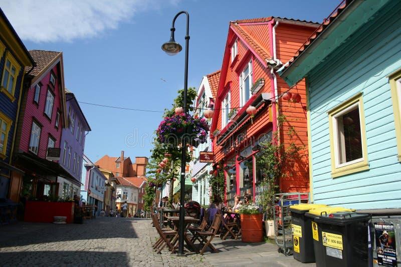 Stavanger-Straßen lizenzfreie stockfotografie