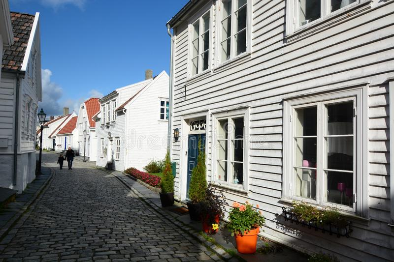 Gamle Stavanger, the old city. Stavanger. Rogaland county. Norway stock image
