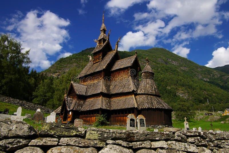 stave Норвегии церков borgund стоковое изображение rf