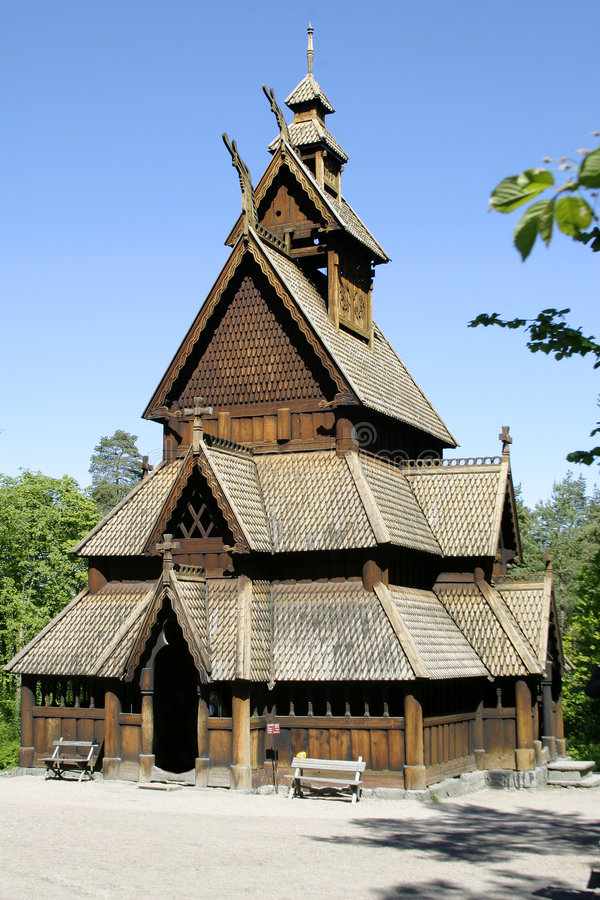 Free Stave Church Royalty Free Stock Photography - 328727