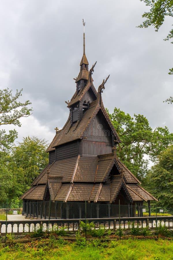 Stave Church a Bergen, Norvegia fotografie stock
