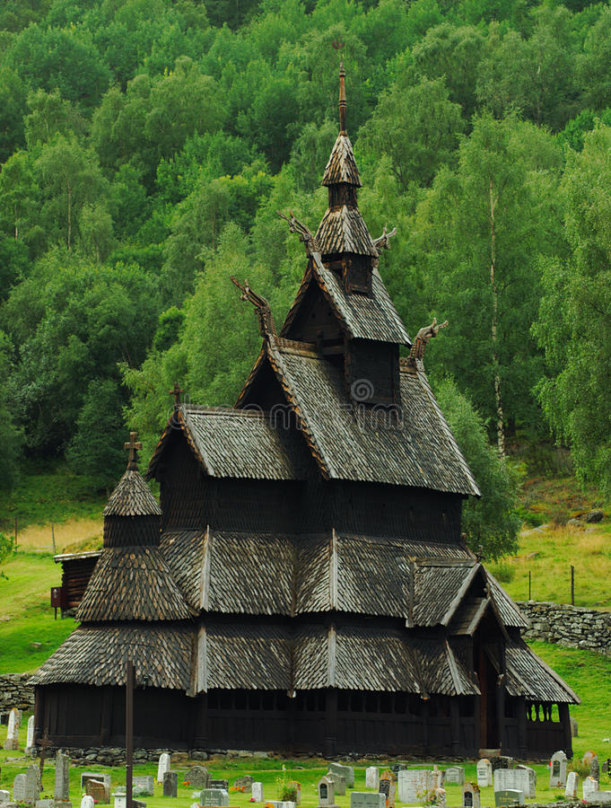 Download Stave Church In Borgund, Norway Editorial Stock Image - Image of borgund, church: 16111199