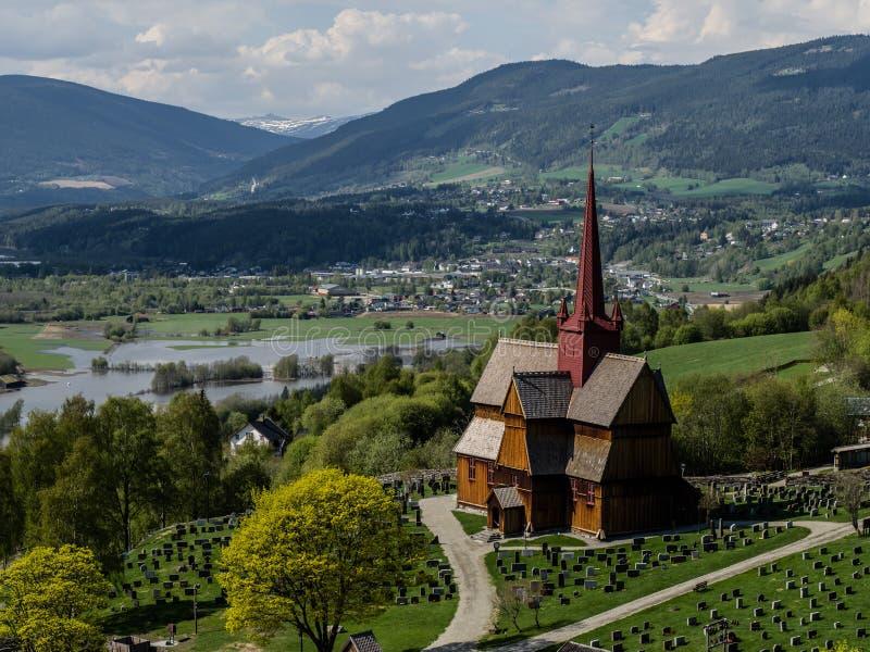 Stave Church de Ringebu imagen de archivo libre de regalías