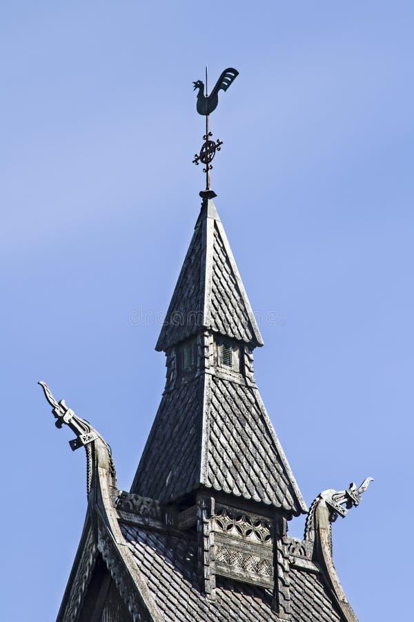 Stave Church Hopperstad stockbilder