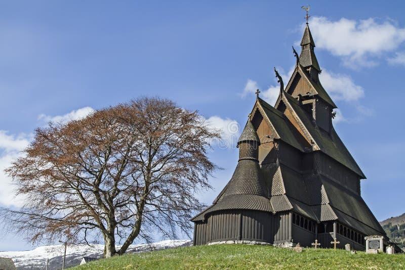 Stave Church Hopperstad lizenzfreie stockbilder