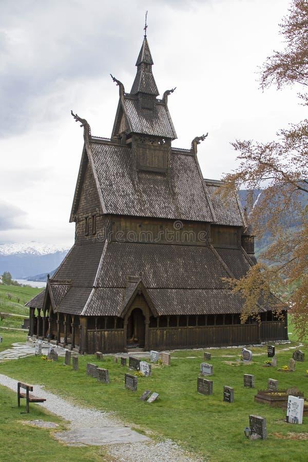 Stave Church Hopperstad stockfotos