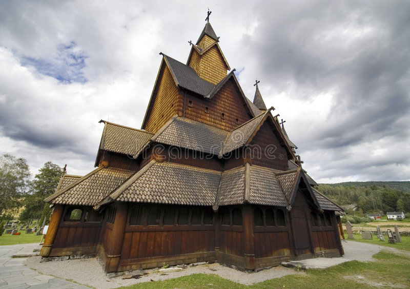 Download Stave church, Norway stock image. Image of near, stavkirke - 3164473