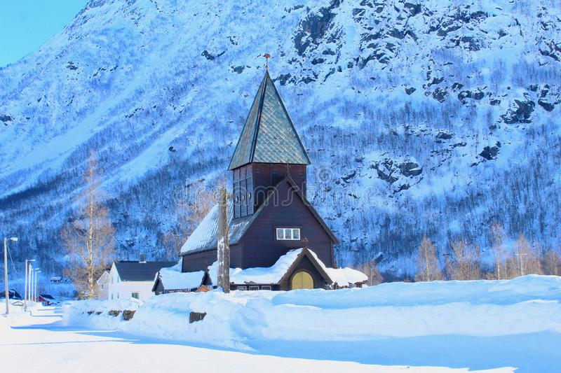 Stave Church in Røldal, Norvegia immagine stock