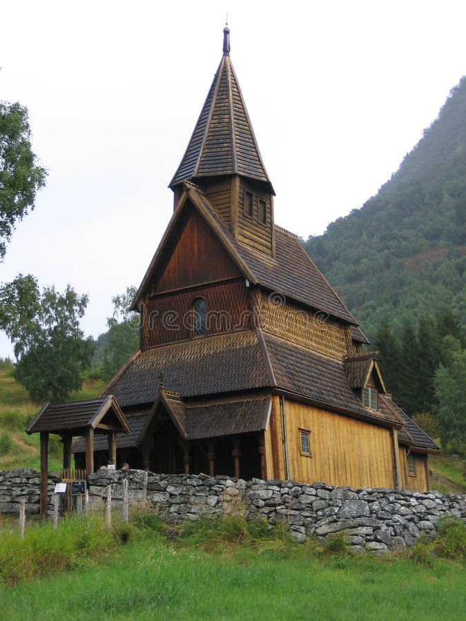Stave Church - UNESCO Site Royalty Free Stock Photos
