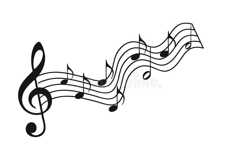 Stave musical. On a white background vector illustration